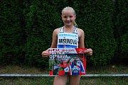 Lucie Mišunová z Lužné si na letošní Čokoládové tretře doběhla pro bronz.
