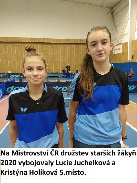 5. místo odvážely Juchelková a Kristýna Holíková