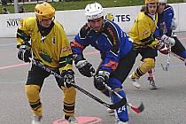 Hokejbalisté Vsetína (světlé dresy)