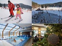 Na lyže i do bazénu na Štědrý den za korunu.