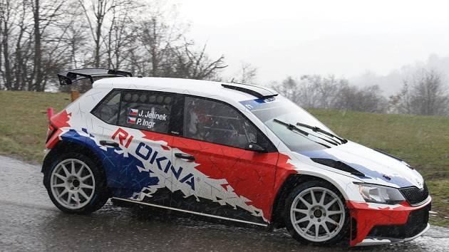 Jan Jelínek testoval vůz před valašskou rally v blízkosti Vizovic