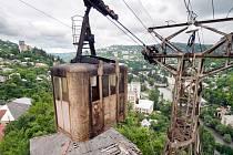 Stalinská lanovka v gruzínském městě Čiatura, ilustrační foto.