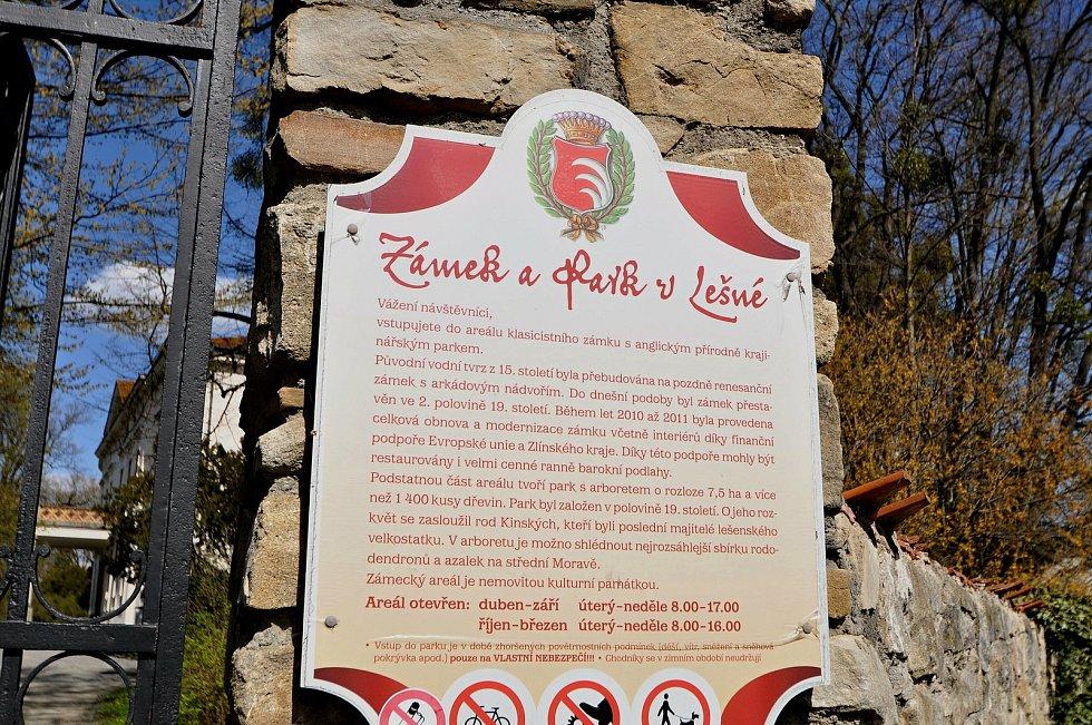 Zámek Lešná v Lešné u Valašského Meziříčí.