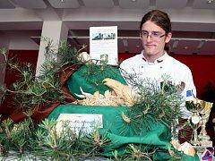 Dvacetiletý Václav Mužikovský ze Střelné získal na mezinárodní soutěži ve vyřezávání ovoce a zeleniny dvě zlaté a dvě stříbrné medaile.