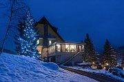 Vánoční strom u Lanterny