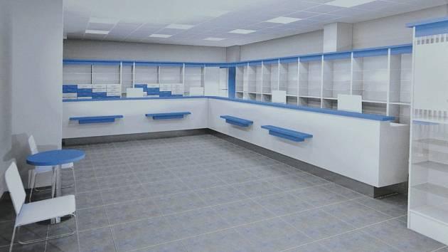 Nově opravená lékárna Duo v poliklinice nabídne větší prostory, klimatizaci, automatické vstupní dveře, nové podhledy i osvětlení. Práce za 3,5 milionu korun budou hotové koncem června 2018.