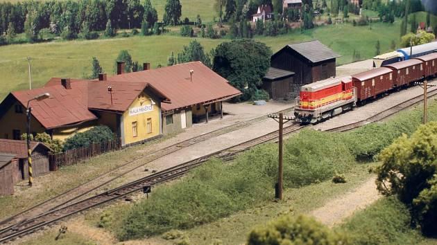 Modely vlaků a železnice z dílny Klubu železničních modelářů