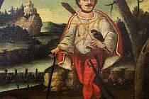 Smrt Ondrášova, neznámý autor, zač. 19. stol., olejomalba na plátně, jeden z nejstarších obrazů ze sbírek Muzea regionu Valašsko ve Vsetíně