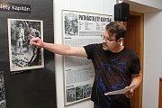 Hodinu výtvarné výchovy si zpestřili studenti Masarykova Gymnázia ve Vsetíně. Navštívili výstavu obrazů Zdeňka Buriana. Kurátor výstavy Zdeněk Holoubek.