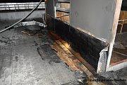 Požár střechy rodinného domu v Novém Hrozenkově