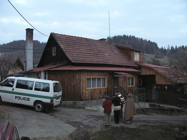 požár v Hovězí