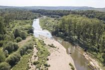 Území, kde by měla stát plánovaná přehrada.