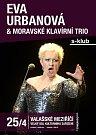 Plakát ke koncertu operní pěvkyně Evy Urbanové a Moravského klavírního tria ve Valašském Meziříčí.