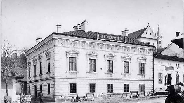 Hostinec Občanské záložny (též Prostřední šenk, nebo Snaha), r. 1920