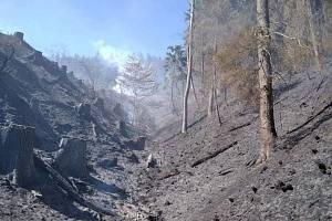 Požáru rubiska v obci Pržno na Vsetínsku