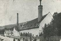 Vsetínský pivovar na fotografii z roku 1885