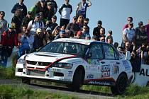 Posádka Pešl – Pešek na trati Rally Šumava Klatovy.