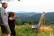 Amatérští výtvarníci se první týden v červenci 2019 sešli pojedenácté na Soláni. Stráví tu týden v Malířské škole. S dobrou radou i podporou pomáhá lektor Martin Gaja, valašský sochař a výtvarník.