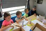 Společnost Arriva zavítala v pátek 12. července na Vsetín, aby budoucím cestujícím představila své soupravy. Děti soutěžily a malovaly o ceny nejkrásnější lokomotivu.