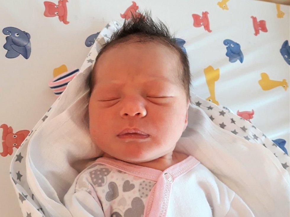 Stella Štěpánová, Horní Bečva, narozena 23. července 2021 ve Valašském Meziříčí, váha 3140 g