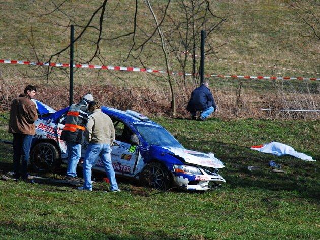 Tragická nehoda na Valašské rally.