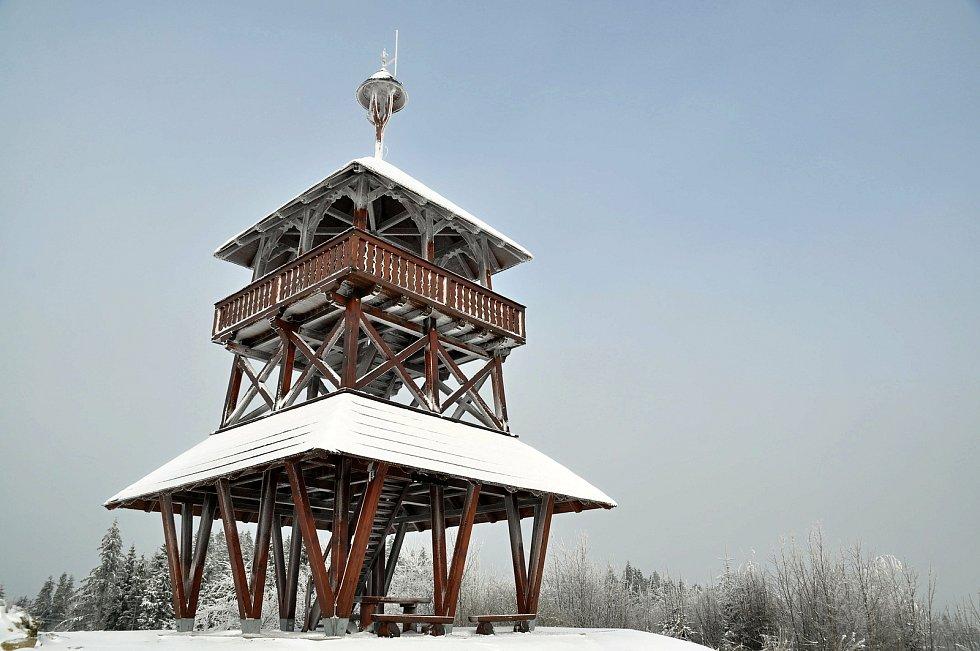 Obec Hošťálková. Rozhledna Maruška.