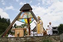 Mše za autora zvoničky v údolí Uherská v Huslenkách pátera Josefa Trtíka