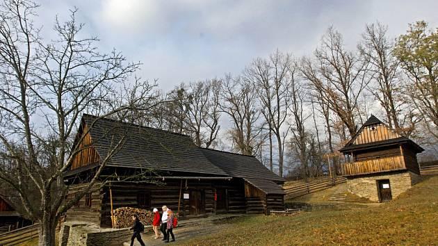 Skanzen v Rožnově pod Radhoštěm. Ilustrační foto.