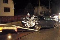 Nehoda řidičky v Lidečku