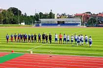 Fotbalisté Valašského Meziříčí se představili na nově zrekonstruovaném stadionu v Novém Jičíně.