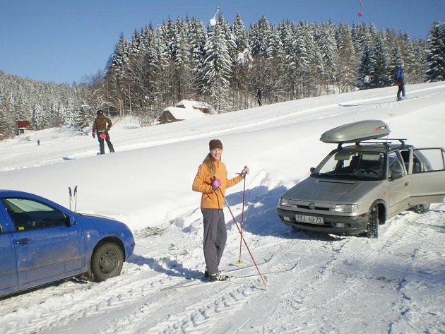 První lyžování