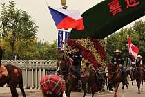 Ondřej Pavlíček z Podlesí byl na říjnovém mistrovství světa ve westernovém ježdění v čínském městě Am-ping vlajkonošem české výpravy.