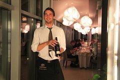 Sommelier Miroslav Sochor v hotelu Lanterna.