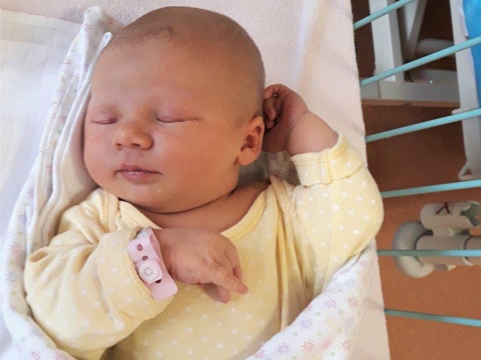 Anna Vrečková, Lešná, narozena 13. dubna 2021 ve Valašském Meziříčí, míra 51 cm, váha 4050 g