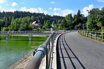 Přehrada v Horní Bečvě.