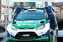 Posádka Tarabus, Trunkát s vozem Ford Fiesta S2000 si na cíílové rampě va Valašském Meziříčí vychutnala třetí místo.