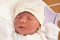 Zoe Hradilová, Hranice, narozena 2. srpna ve Valašském Meziříčí, míra 47 cm, váha 3220 g