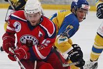 Dobrý zápas odehrál ve druhém semifinále proti Ústí Jan Knotek (na snímku), který patřil k nejlepším Rebelům.