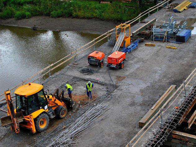 Oprava  mostu u kostela sv. Kateřiny v Havlíčkově Brodě běží podle harmonogramu.