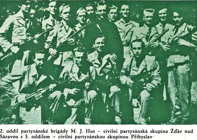 Jeden z oddílů partyzánské brigády Mistr Jan Hus. Repro: