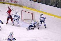 Z hokejového utkání HC Rebel - KLH Chomutov.