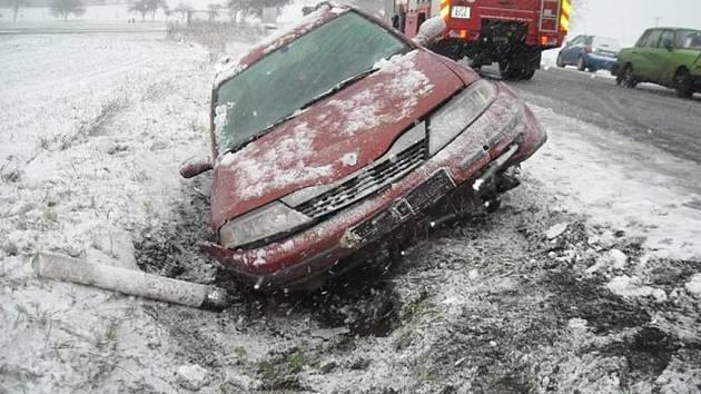 Nehoda na silnici I/38 Havl. Brod - Jihlava.