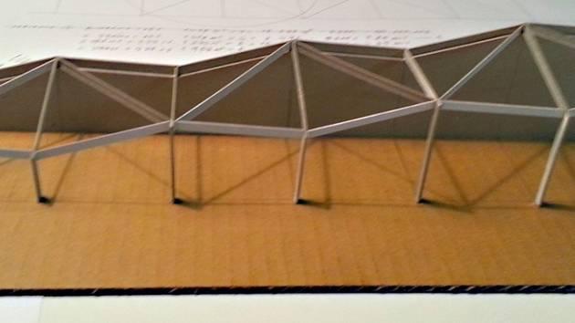 Maketa haly pro trénink požárního sportu z tvůrčí dílny atelier 2 v Havlíčkově Brodě. Autorem je architekt Stejskal. Podle tohoto návrhu by současná severní vnější zeď bramborárny byla vnitřní zdí haly a vše ostatní by bylo pro dostatek světla proskleno.