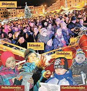 Akce Česko zpívá koledy, kterou iniciuje Deník, se na náměstích či návsích obcí v kraji zúčastnilo kolem pěti tisíc lidí.