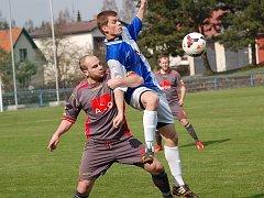 Zápas mezi Humpolcem a Světlou rozhodl Radim Dalík (vpravo).