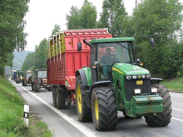 Stávka zemědělců.