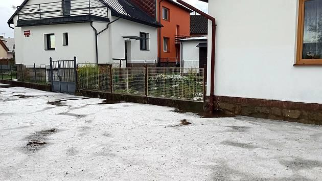 Bouřky na Vysočině opět řádily. Švermova ulice v Havlíčkově Brodě