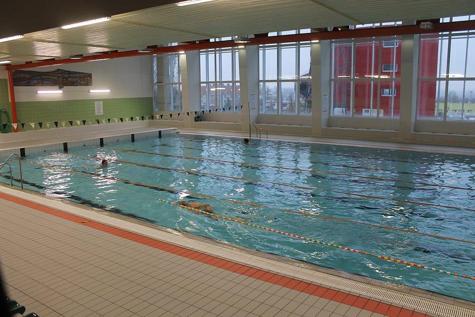 Plavecký bazén v Jihlavě.