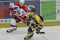 Z hokejového utkání HC Rebel - SK Kadaň.