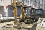 Strážná ulice se otevře v červnu, rekonstrukce v Dolní ulici skončí na podzim.